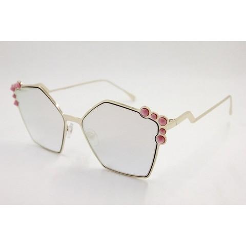 Солнцезащитные очки 17089002s Розовые зеркальные