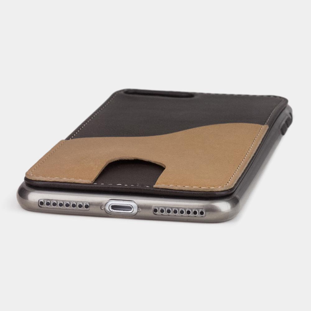 Чехол-накладка Andre для iPhone 7 Plus из натуральной кожи теленка, темно-коричневого цвета