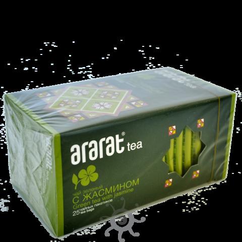 Чай зеленый с жасмином в пакетиках Арарат, 25х1,5г