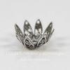 Винтажный декоративный элемент - шапочка  10х5 мм (оксид серебра)