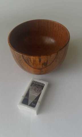 Чаша для бритья деревянная