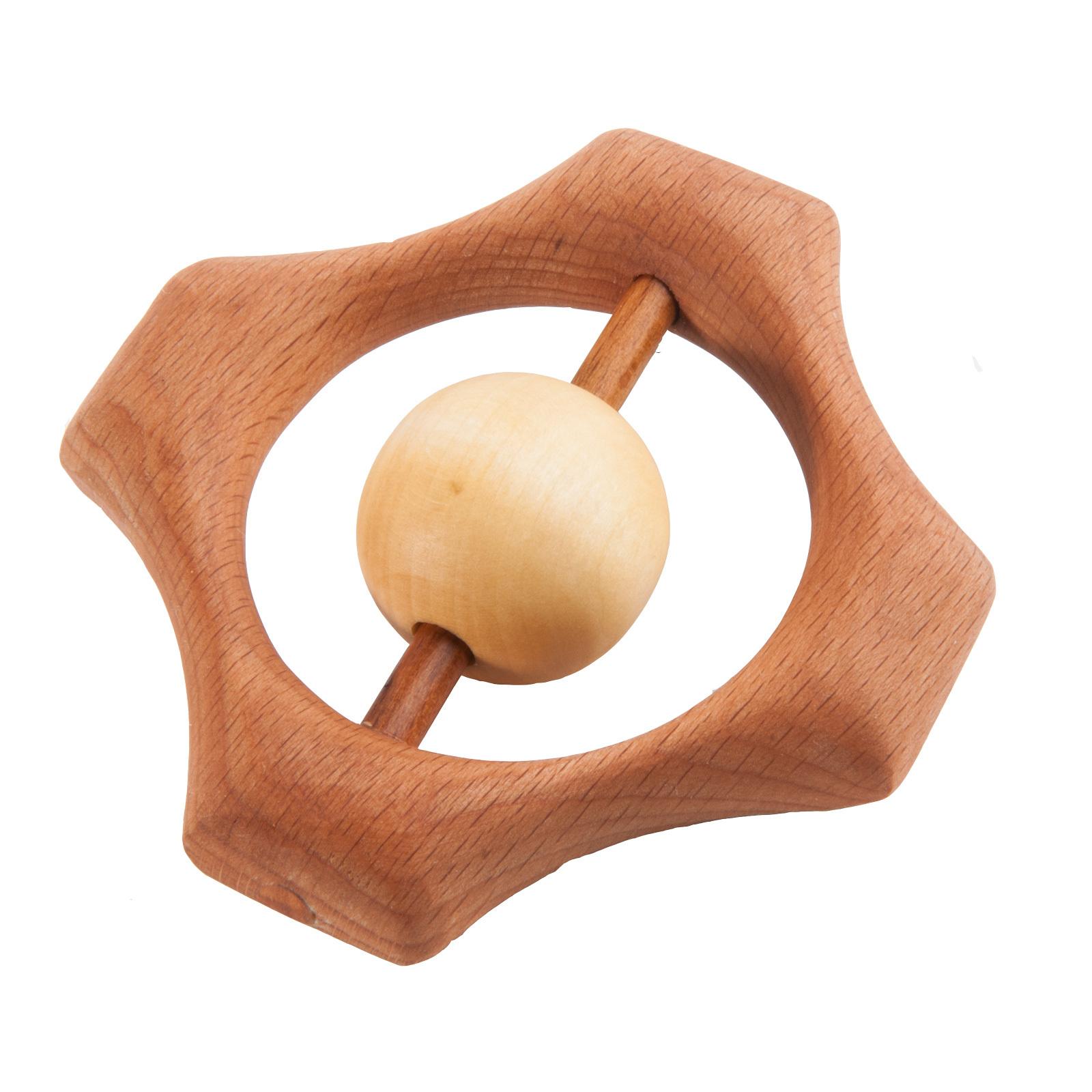 Погремушка-грызунок деревянная
