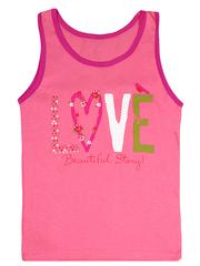 GM02-102п-1 майка для девочек, розовая