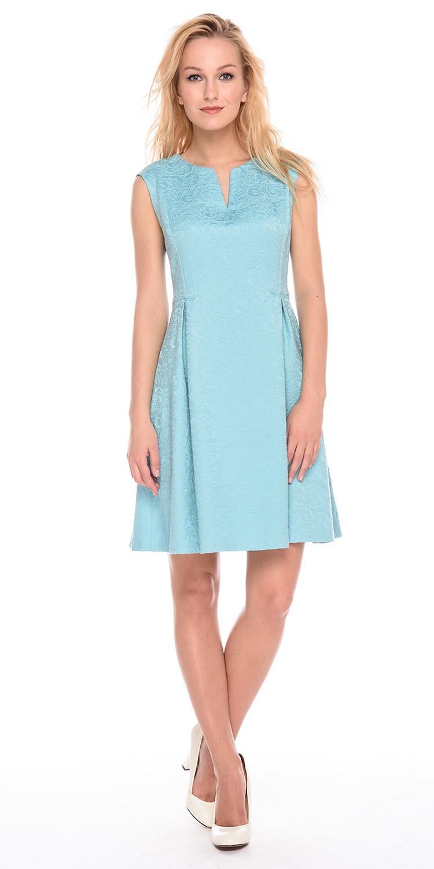 Платье З196-767 - Женственное и комфортное платье из жаккардового хлопка. Этот кокетливый и легкий фасон прекрасно подходит практически всем, скрывая недостатки фигуры.  Классические линии кроя идеально обрисовывают женственный силуэт. Подходит для офиса,  романтических встреч, праздничных и вечерних мероприятий.
