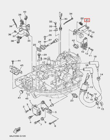 Скоба крепления выпрямителя для лодочного мотора F20 Sea-PRO (12-21)