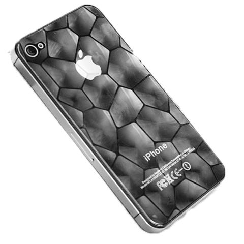 "Пленка защитная 3D ""соты"" для iPhone 4G/4S две стороны"