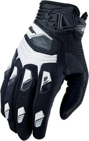 Мотоперчатки - THOR DEFLECTOR (белые)
