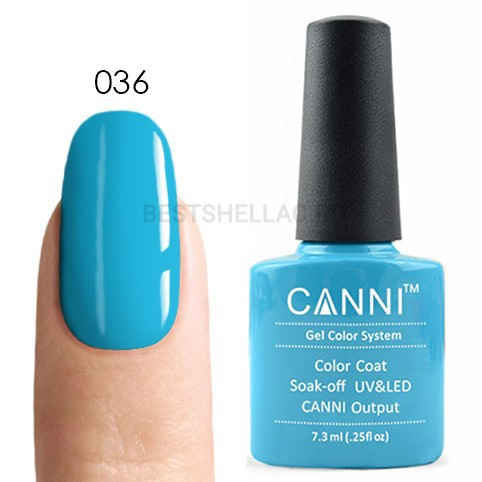 Canni Canni, Гель-лак № 036, 7,3 мл 036.jpg