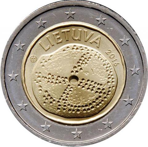 2 евро 2016 Литва - Балтийская культура