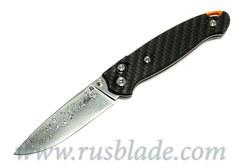 Cheburkov Scout Damascus Folding Knife