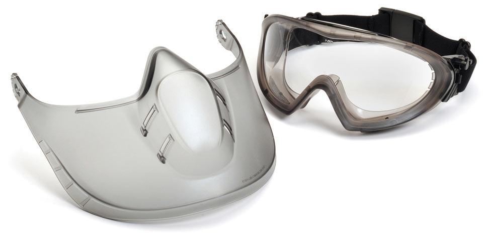 Очки баллистические стрелковые Pyramex Capstone G504TSHIELD Anti-fog маска прозрачные 96%
