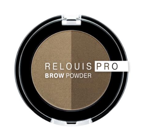 RELOUIS Тени для бровей PRO Brow Powder тон 01 Blonde