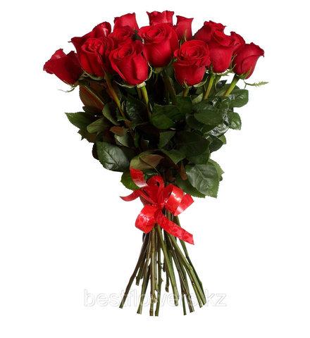 Букет из 19 Голландских красных роз (70 см)