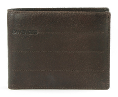 Портмоне WENGER Street Hunter, коричневый, воловья кожа, 12х9,5х1 см
