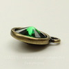 """Сеттинг - основа - подвеска TierraCast """"Грани"""" для страза 12 мм (цвет-античная латунь)"""