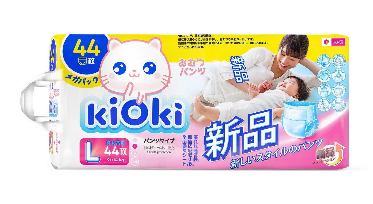 kiOki Детские подгузники-трусики L (9-14 кг) 44 шт.