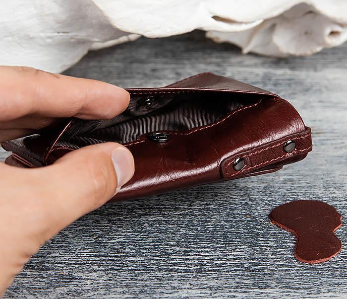 WL250-3 Красный мужской кошелек из натуральной кожи фото 04