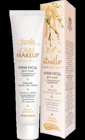 Floralis Care&Makeup Крем-уход для лица с тонирующим эффектом Теплый янтарный 40г