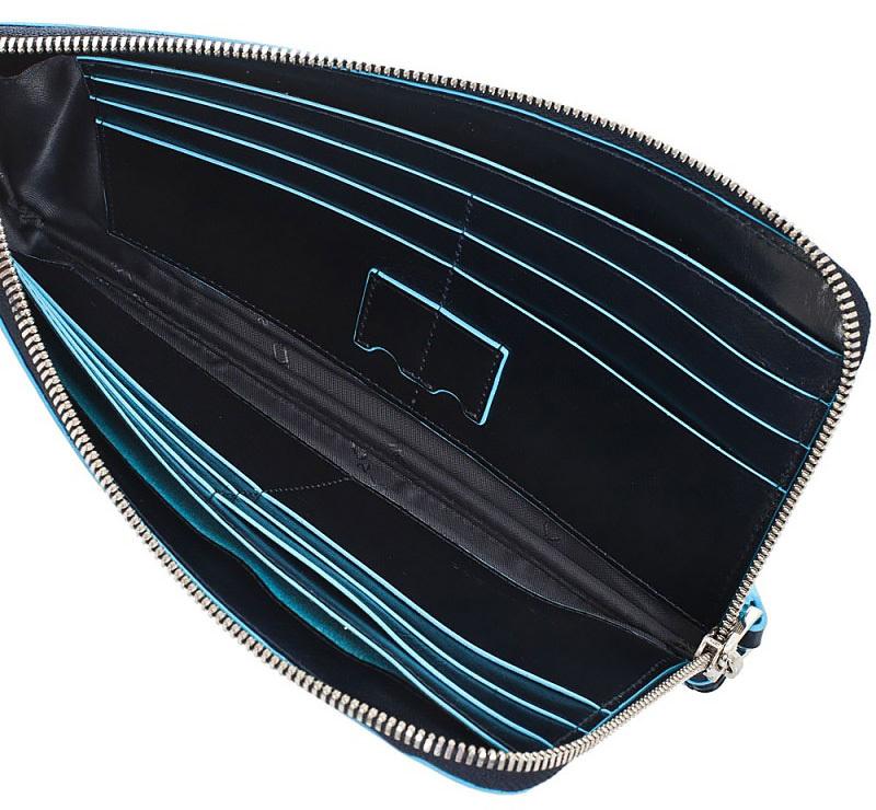 Мультипортмоне Piquadro Blue Square, цвет синий, 22,5х11,5х1,5 см (AC2648B2/BLU2)