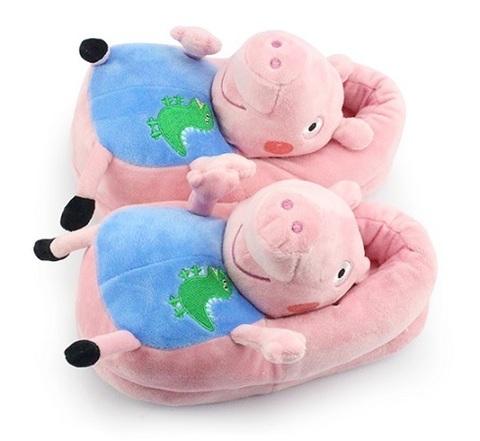 Slippers Plush Peppa Pig George