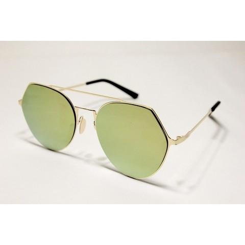 Солнцезащитные очки 194002s Золотые зеркальные - фото