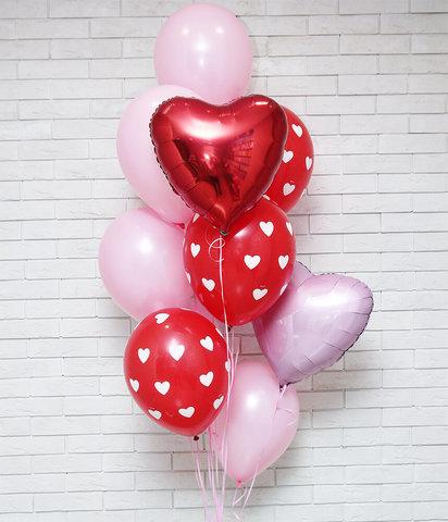 шары сердца, шары с сердечками, шары с рисунками, букет из шаров, фонтан из шаров, воздушные шары, шары с гелием, бесплатная доставка шаров.