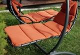 Двойное подвесное кресло качели Venera Orange