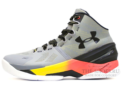 Кроссовки Мужские Under Armour Curry Two Grey Black Fire