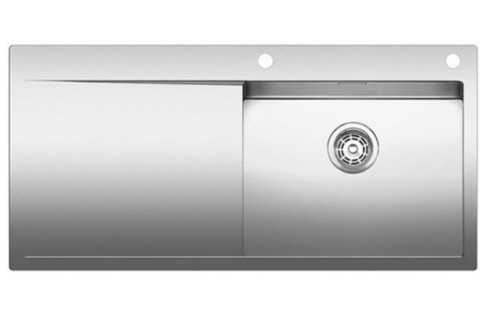 Кухонная мойка Blanco FLOW XL 6S-IF, клапан-автомат, нержавеющая сталь