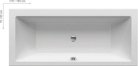 Акриловая ванна Ravak FREEDOM R 1750х750  белая отдельностоящая ПРЯМОУГОЛЬНАЯ