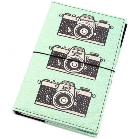Блокнот (тревелбук) - American Crafts Journal Studio Kit  - 14х22 см -  Camera By Amy Tangerine