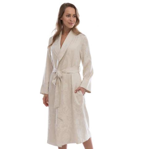 GRANT бежевый женский халат Tivolyo Home Турция