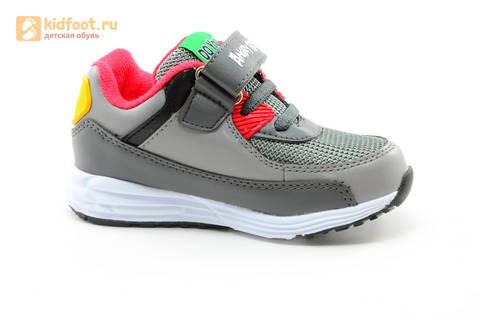 Светящиеся кроссовки для мальчиков Энгри Бердс (Angry Birds) на липучках, цвет темно серый, мигает картинка сбоку. Изображение 2 из 15.