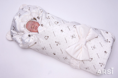 ARSI Одеяло c капюшоном демисезонное Мишка