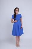 Платье 09273 синий