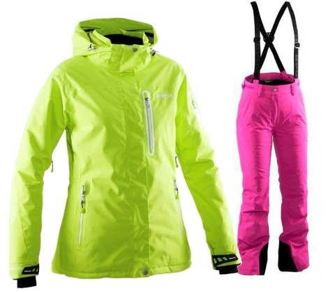 Женский горнолыжный костюм  8848 Altitude Aruba/Winity (lime/flox)