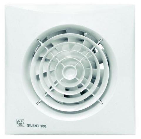 Вентилятор накладной S&P Silent 100 CHZ Silver (таймер, датчик влажности)