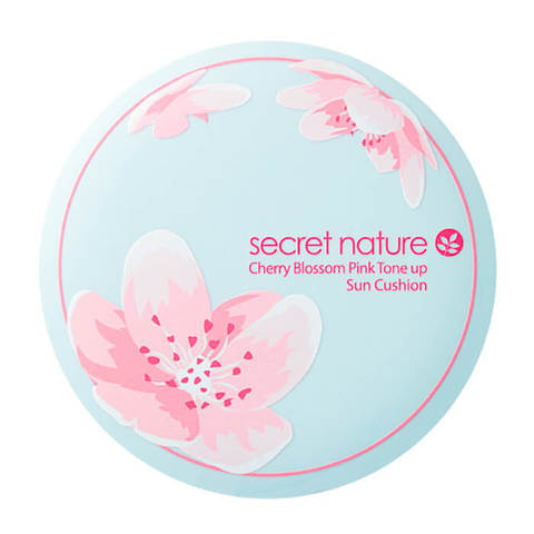 SECRET NATURE Cherry Blossom Pink Tone Up Sun Cushion SPF50+/PA++++