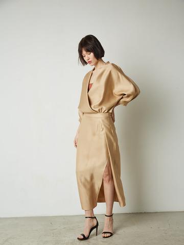 Платье вечернее из вискозы беж (249131)