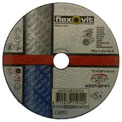 Отрезной круг по металлу 76х1х10 мм Flexovit