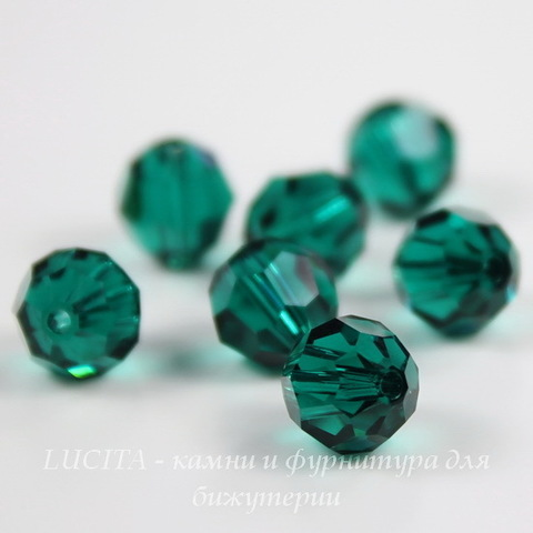 5000 Бусина - шарик с огранкой Сваровски Emerald 6 мм