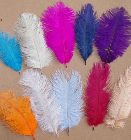 Перья страуса  декоративные 15-20 см. Уценка, категория 1.  (выбрать цвет)