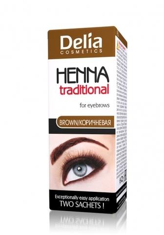 Delia Cosmetics Henna Traditional Краска для бровей и ресниц Коричневая
