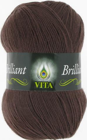Пряжа Vita Brilliant шоколад 5115