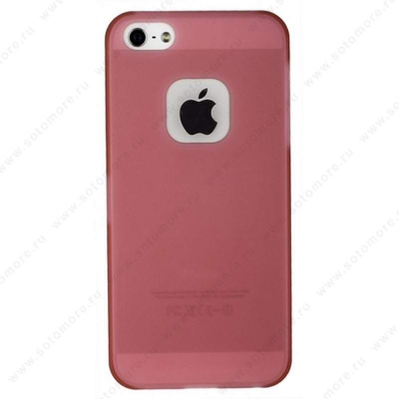 Накладка MOMAX для iPhone SE/ 5s/ 5C/ 5 розовая