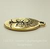 """Подвеска круглая TierraCast """"Дерево жизни"""" (цвет-античное золото) 27х24 мм"""