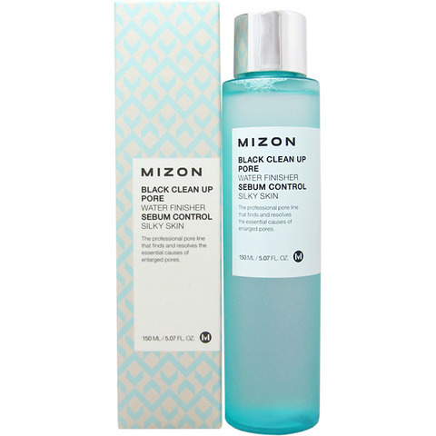 MIZON BLACK Тонер очищающий MIZON BLACK CLEAN UP PORE WATER FINISHER 150мл