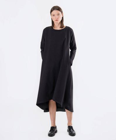 Асимметричное платье черное