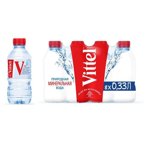 Вода минеральная Vittel ПЭТ 0,33л негаз. 8 шт/уп