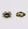 """Шапочка для бусины """"Маленький цветочек"""" 6х2 мм (цвет - античная бронза), 10 штук"""